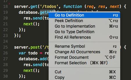 JavaScript Code Navigation