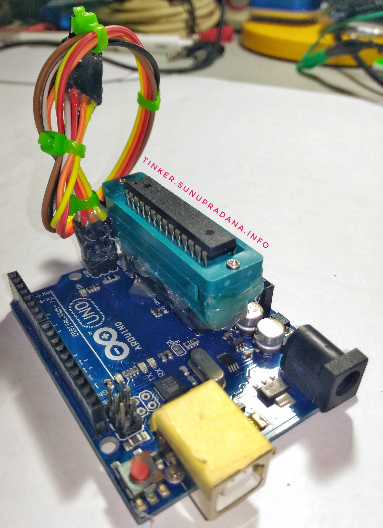 Atmega Tinker Atmel Usb Programmer Circuit Zif Socket Usbasp Atmega8 4 Arduino Uno Plus