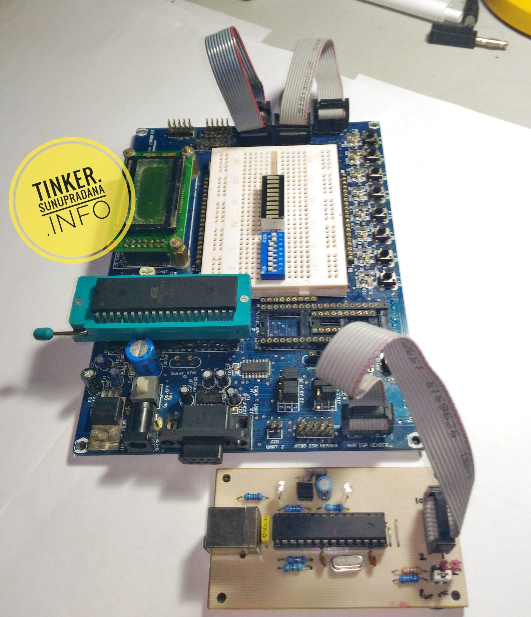 Atmel Tinker Usb Programmer Circuit Zif Socket Usbasp Atmega8 4 Pada Post Sebelumnya Saya Sudah Membuat Catatan Mengenai Sistem Papan Dst 51 Sedang Ini Dt Combo Avr