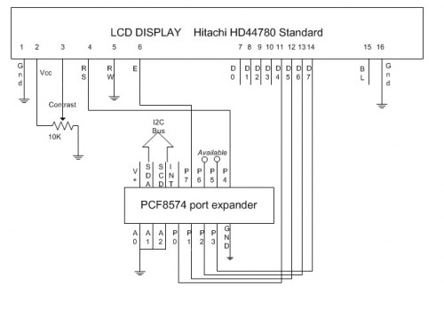 Image result for i2c pcf8574 lcd